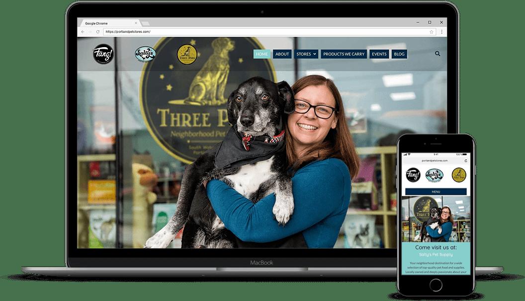 Portland Pet Stores Mockup